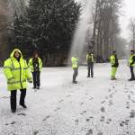 Ecological Clerk of Works Team in the Snow