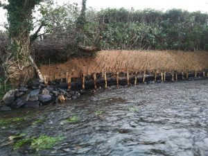River bank reinforcement day 4, Wales